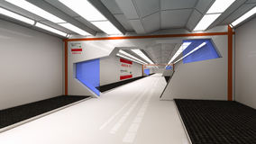 Futuristic corridor Royalty Free Stock Image
