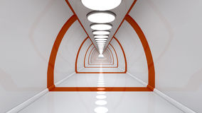 Futuristic corridor of future Royalty Free Stock Photography