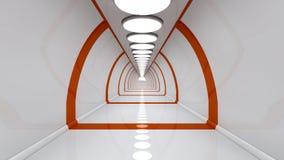 Futuristic corridor of future. 3d design of a futuristic corridor of future Royalty Free Stock Photography