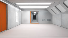 Futuristic corridor interior Royalty Free Stock Photo