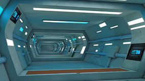 Futuristic corridor interior Stock Photography