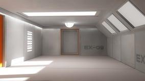 Futuristic corridor interior Stock Image