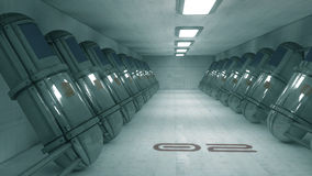 Futuristic corridor SCIFI Stock Photography