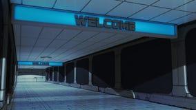 Futuristic corridor SCIFI Royalty Free Stock Image