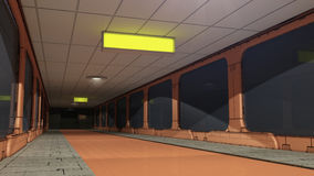 Futuristic corridor SCIFI Stock Photo