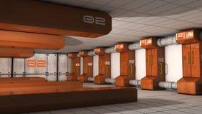 Futuristic corridor SCIFI Stock Images