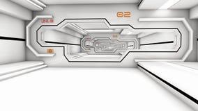 Futuristic corridor SCIFI Stock Image