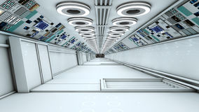 Futuristic corridor SCIFI Stock Photo