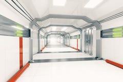 Futuristic corridor side Stock Photo