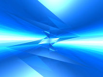 Futuristic crystal blue background. Royalty Free Stock Images