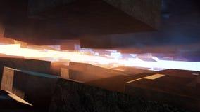 Futuristic Cubic Architecture Stock Photos
