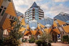 Futuristic cubic houses in Rotterdam Royalty Free Stock Image