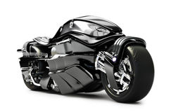 Futuristic custom motorcycle concept. On a white background Royalty Free Stock Images