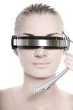 Futuristic cyber online operator Stock Photo