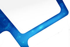 Futuristic Cyber technology blue and white abstract background w Royalty Free Stock Image