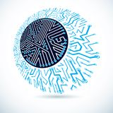 Futuristic cybernetic round scheme, vector motherboard illustration. Digital element. vector illustration