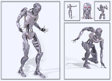 Futuristic cyborg figure Stock Photos