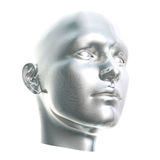 Futuristic Cyborg Head Stock Photo