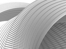 Futuristic 3d Abstract Architecture Background. 3d Render Illustration Royalty Free Stock Photos