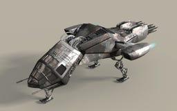 Futuristic 3D battleship pod royalty free illustration