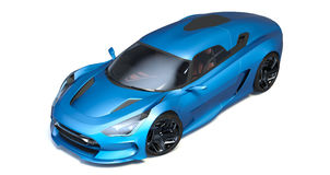 Futuristic 3d concept car Stock Image