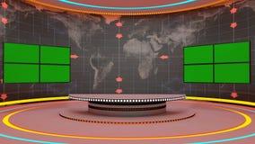 Futuristic 3d green screen Stock Photo