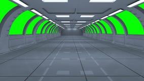 Futuristic 3d green screen Royalty Free Stock Photos