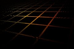 Futuristic grid pattern in yellow red colors on black background. Futuristic 3D grid pattern in yellow red colors on black background vector illustration