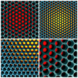 Futuristic 3d honeycomb structure Royalty Free Stock Photos