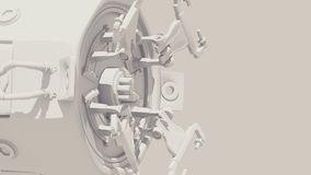 Futuristic 3D industrial mechanical machine in automation royalty free illustration