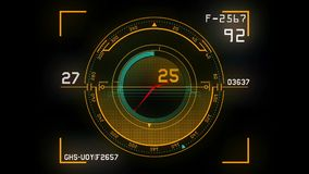 Futuristic dashboard background stock video footage