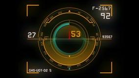 Futuristic dashboard background stock video footage
