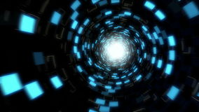 Futuristic Data Accelerator Tunnel in Loop stock video footage