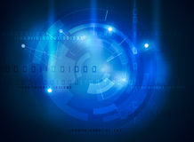Futuristic data high tech interface Royalty Free Stock Photo