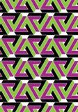 Futuristic decorative geometric seamless pattern Stock Photography