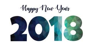 Futuristic design new year 2018 Stock Photos