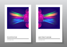 Futuristic design posters with abstract elements and gradients. Stock Images