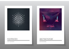 Futuristic design posters with abstract elements and gradients. Vector illustration. Applicable for album covers, film placards, music posters, dj flyers and stock illustration