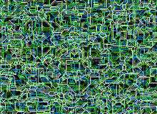 Futuristic digital abstract backgrounds from neon lines Royalty Free Stock Photos