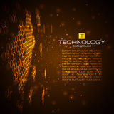 Futuristic digital background with space for text. vector illustration