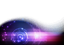 Futuristic digital blue and purple background Stock Photos