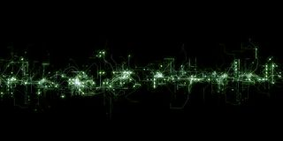 Futuristic digital grid background. An abstract digital futuristic background isolated on black. Suitable for gaming, internet and any other digital website Royalty Free Stock Image