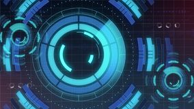 Futuristic digital HUD Technology user interface, Radar screen with various technology elements business communication Royalty Free Stock Photography