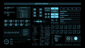 Futuristic digital interface screen stock footage