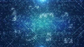 Digital interface design background template. Futuristic digital technology abstract background. Dark blue digital background.