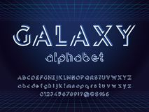 Abstract font royalty free illustration