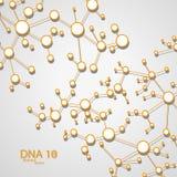 Futuristic dna eps 10. Vector elegant illustration royalty free illustration