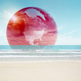 Futuristic earth concept Stock Photography
