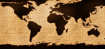 Futuristic Earth map Stock Photos