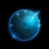 Futuristic Earth Map. In vector on black background Royalty Free Stock Photography
